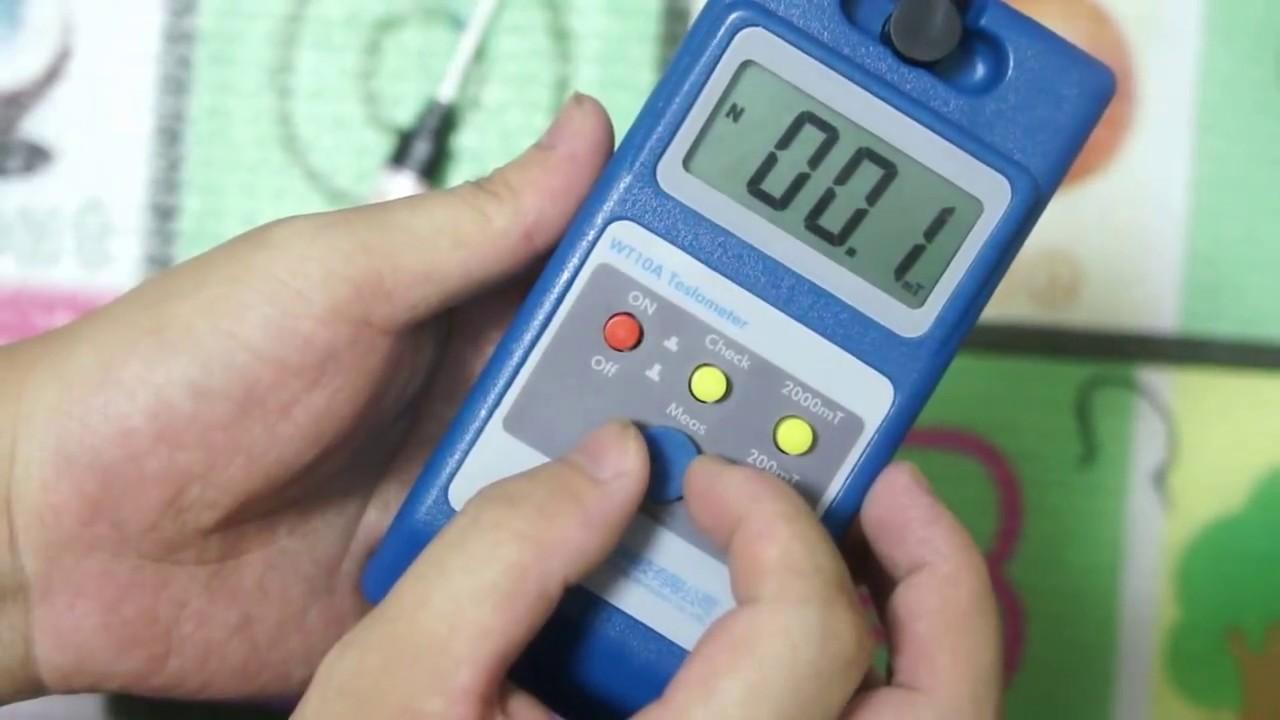 Gauss Meter Handheld Tesla Meter Fluxmeter Surface Magnetic Field Tester Digital Magnetic Field Gauss Meter Tools WT10A