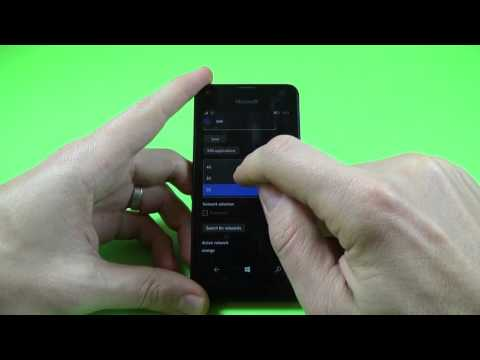 Microsoft Lumia 550 - How to Change Network Modes 2G/3G/4G (Windows 10 mobile)