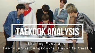 Taekook sharing foods and Taehyung is Jungkook
