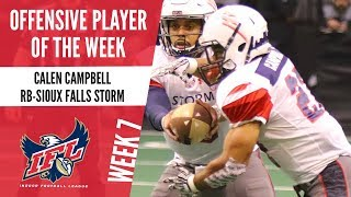 Week 7 Offensive Player of the Week: RB Calen Campbell thumbnail