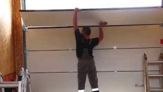 Монтаж гаражных секционных ворот Alutech