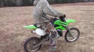 2009 Kawasaki KX65 top speed & me taking a lap (NOT 70MPH LIKE THE KID SAYS.)
