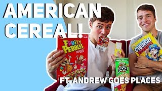 Trying American Cereal Ft. Andrew Goes Places I Tom Daley