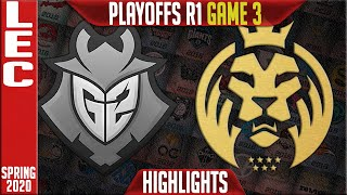 G2 vs MAD Highlights Game 3 | LEC Spring 2020 Playoffs Round 1 | G2 Esports vs MAD Lions G3