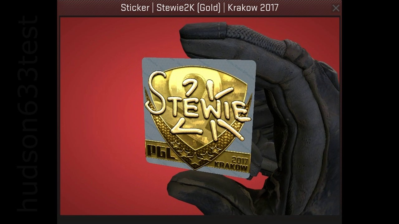 Image result for stewie2k sticker gold