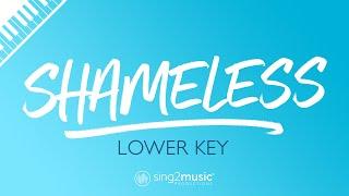 Shameless (Lower Key Piano Karaoke) Camila Cabello