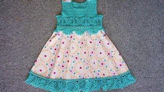 Детское комбинированное платье (часть2 из 2)