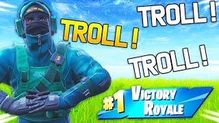 I TROLL FOR THE TOP 1 WITH THE NEW SKIN ON FORTNITE!
