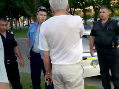 Работник ГАИ в Харькове устроил драку