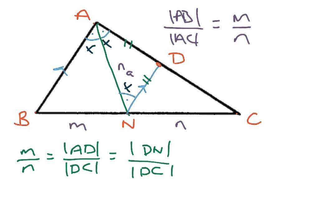 interior angle bisector theorem proof youtube