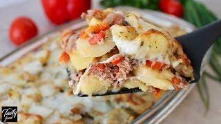Картофель с Фаршем в Духовке! Запеченный картофель!