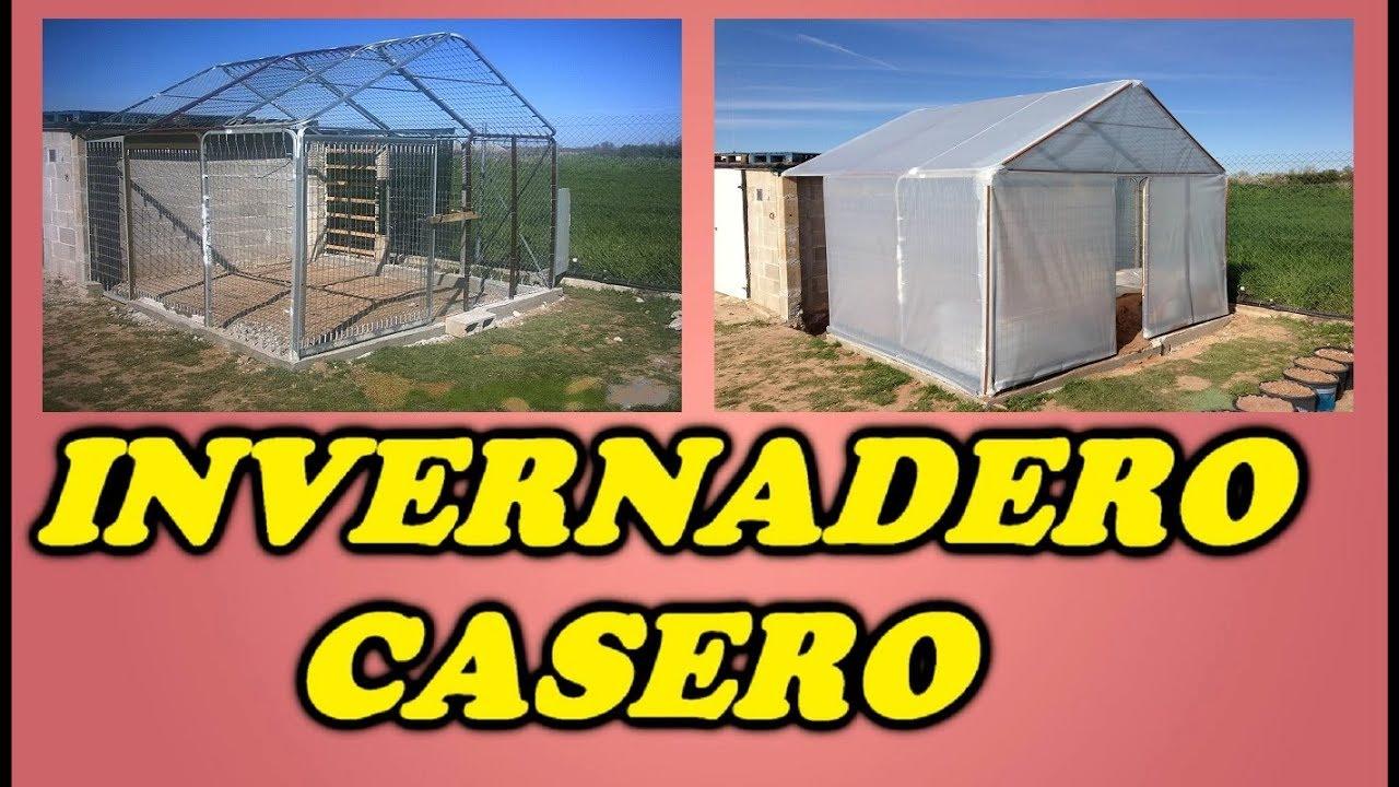 Invernadero casero con materiales reciclados nuevo youtube - Fabricar un invernadero ...