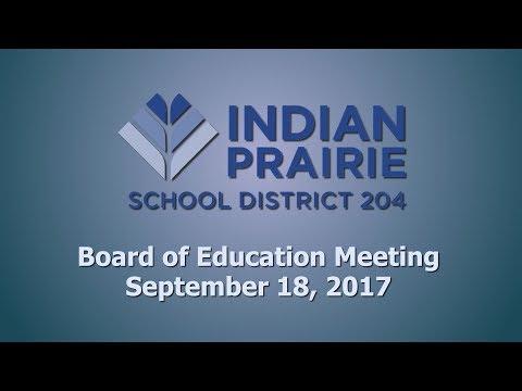 School Board Meeting: 09/18/2017