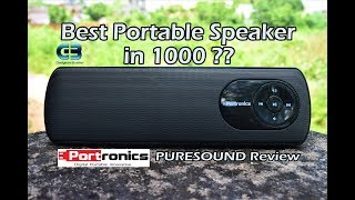 Best Portable Speaker under 1500 Portronics PURESOUND Review