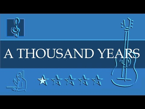 Acoustic Guitar Notes Tutorial  A Thousand Years  Christina Perri  Sheet music