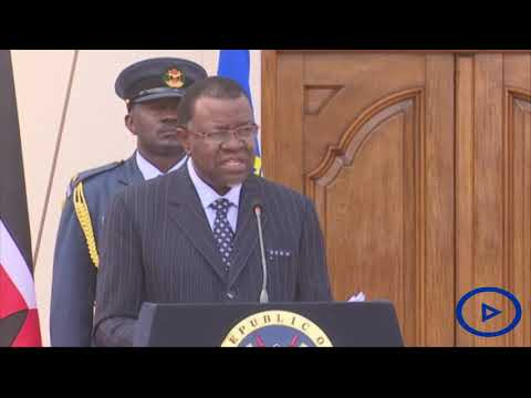 Namibian President Hage Geingob makes a commitment to Kenya