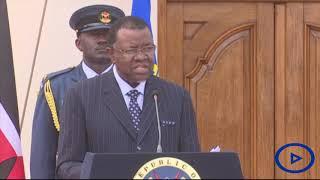 Namibian President Hage Geingob makes a commitment to Kenya