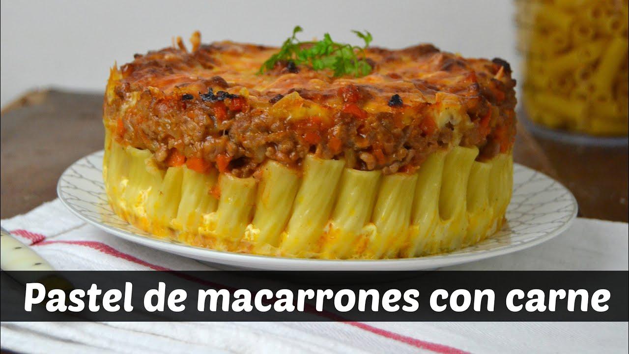 Pastel De Macarrones Con Carne Youtube