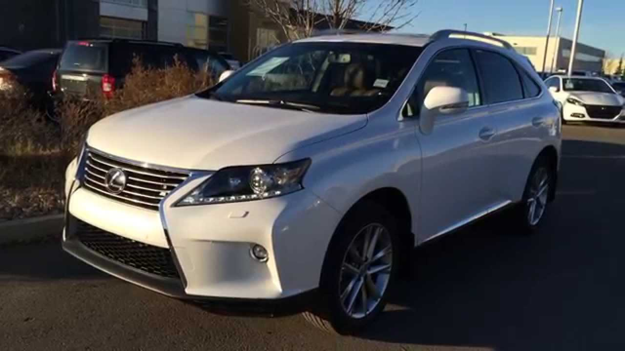 New White On Sadddle Tan 2015 Lexus Rx 350 Awd Touring
