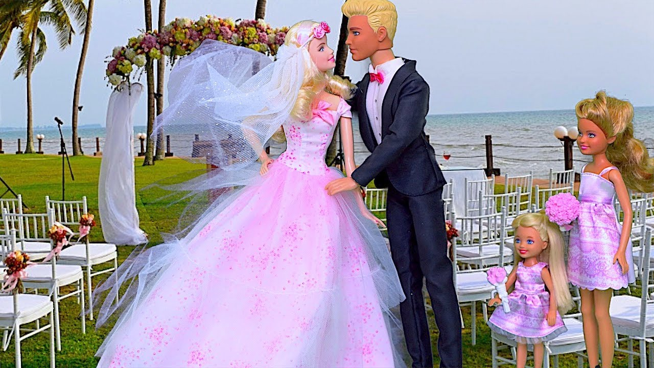 Barbie Wedding Party Play Doll Dress Up And Hairstyling Boneka Hello Kitty Wedding14ampquotn A Barbiedoll Playtoys