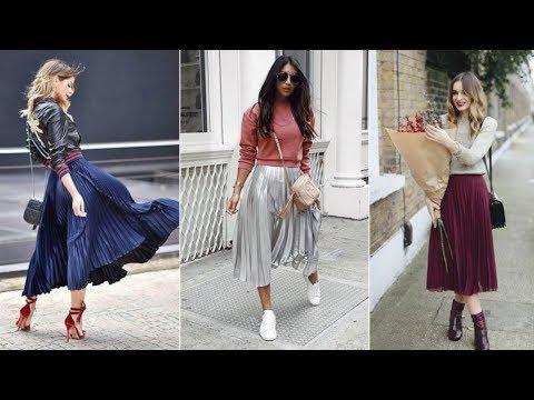 C чем и как носить плиссированную юбку