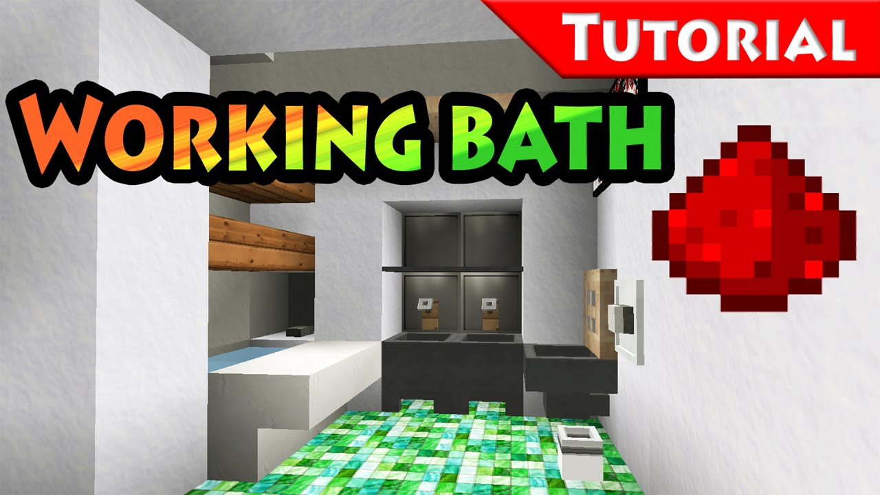 Bathroom Design Minecraft too small place for bathroom? solution + working bathtub