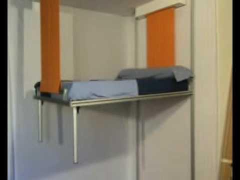 La Cama que baja del techo cama elevable con motor  YouTube