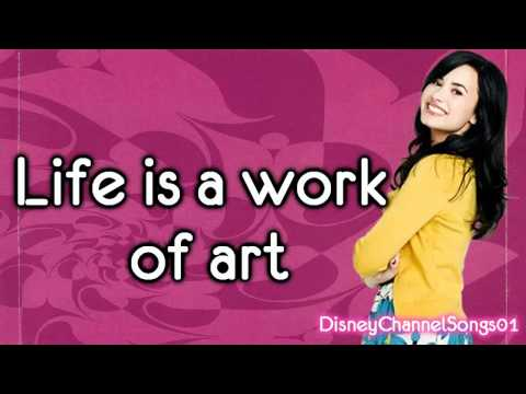 Demi Lovato (Sonny with a chance) Work Of Art With Lyrics