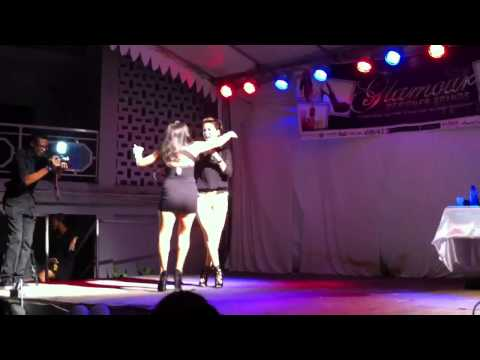 Guyana girl dances with Tamii chin