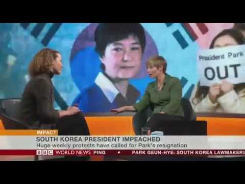 BBC 탄핵 반응 - (*자막* 버튼 누르세요.) 박근혜 대통령 탄핵안 가결에 대한 해설, South Korea Impeachment