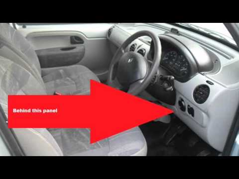 renault kangoo mk1 obd2 diagnostic port location youtube. Black Bedroom Furniture Sets. Home Design Ideas