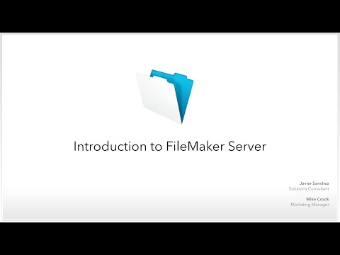 Webinar: Introduction to FileMaker Server