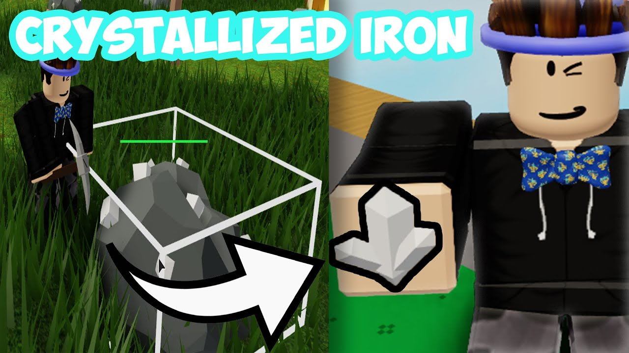 How To Get Crystallized Iron Islands Skyblock Roblox Youtube