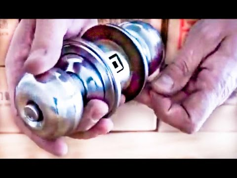 How to remove and replace a door knob without visible screws