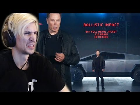 Is Elon Musk Trolling? - xQc Reacts to New Tesla Cybertruck Launch