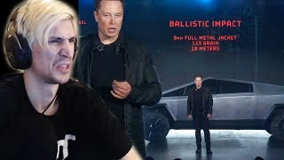 Is Elon Musk Trolling? - xQc Reacts to New Tesla Cybertruck Launch