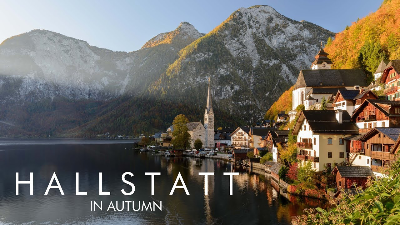 Beautiful Fall Wallpaper Desktop Hallstatt In Autumn 4k Youtube