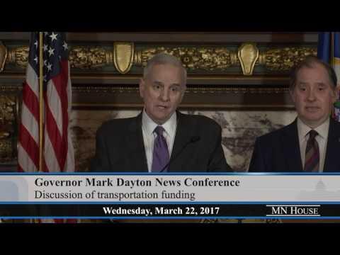 Governor Mark Dayton News Conference  3/22/17
