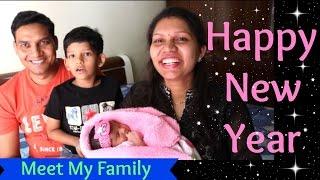 Happy New Year 2017 | Meet My Family | New Member In My Family | kabitaskitchen