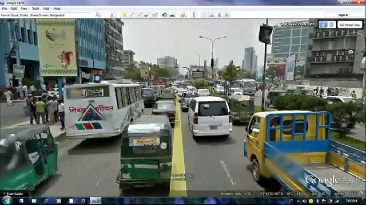 dhaka bangladesh street view on google earth hd youtube