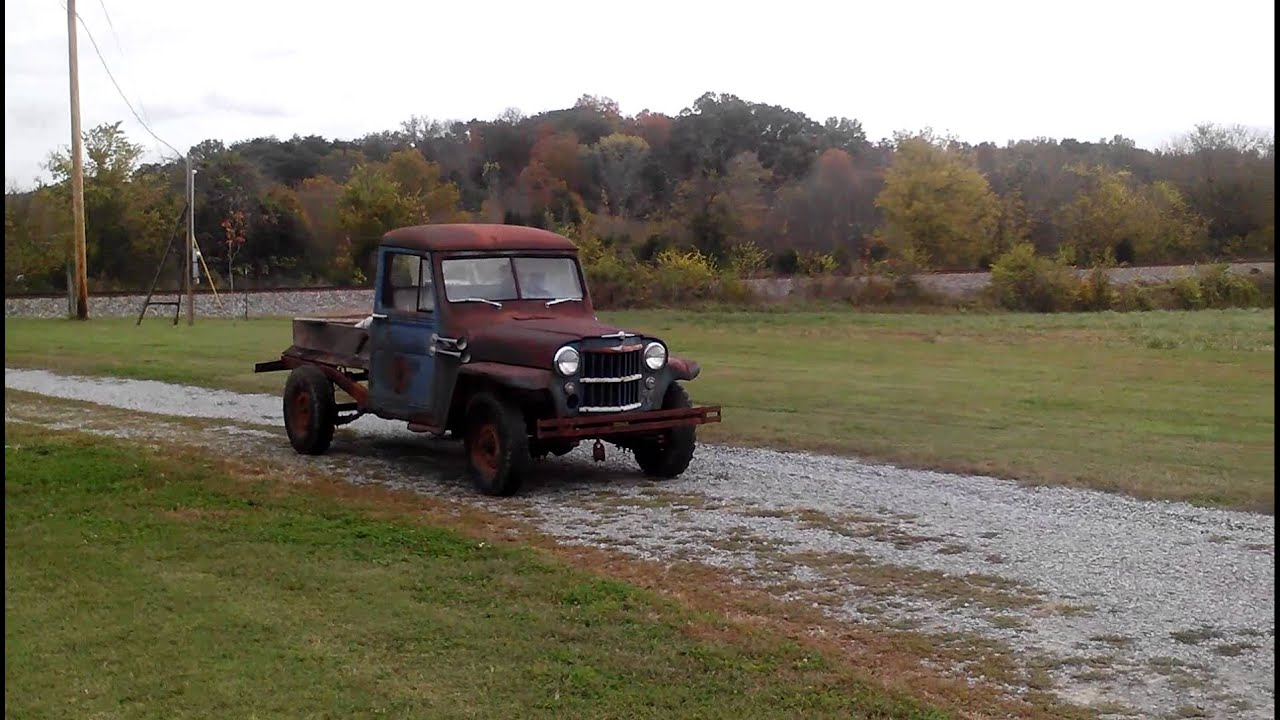 Lifted Jeeps For Sale >> 1956 willys truck first run in 25 years - YouTube