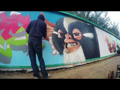 PSY-2HT time lapse graffiti at Reuring Sunday Graffiti Jam Veenendaal