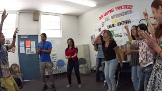 Jimmi dancing Indian music (ESL Class)