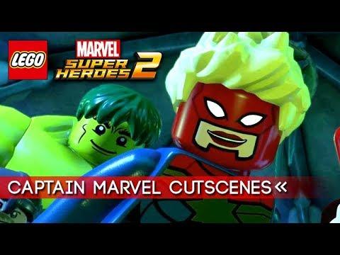 LEGO Marvel Superheroes 2 | All Captain Marvel Cutscenes 【1080p HD】