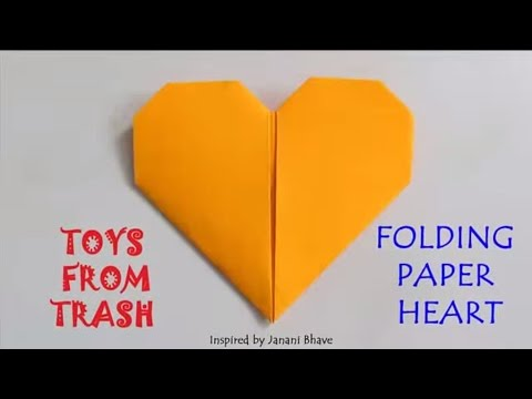 Folding Paper Heart | Hindi | Fun Folding! - YouTube