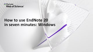 How to use EndΝote 20 in seven minutes: Windows