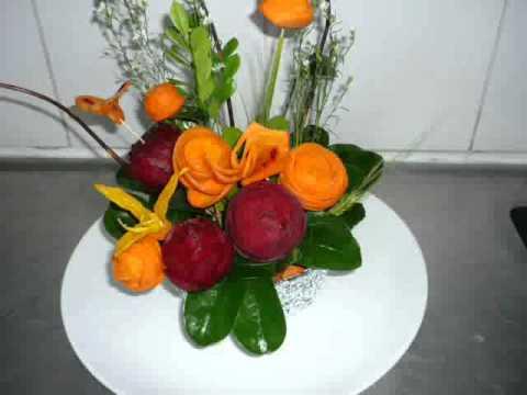 Decoracion de frutas y verduras youtube - Decoracion de frutas ...