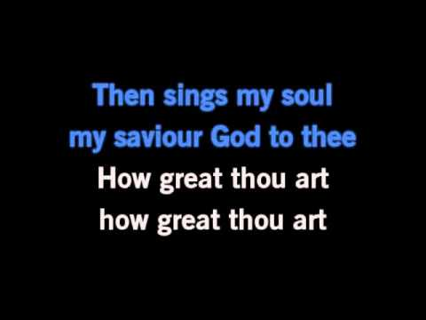 How Great Thou Art Karaoke- Carrie Underwood.wmv - YouTube