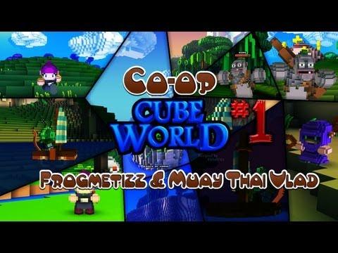 Супер Co-op приключения в Cube World #1 - Познаём мир