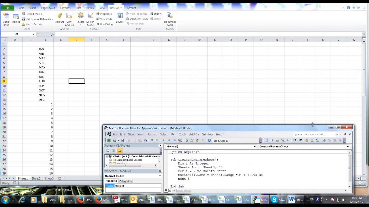 Create and rename many sheets by VBA Code YouTube – Rename Worksheet Vba